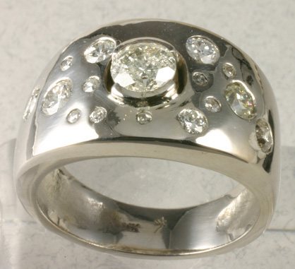 Special Order- Diamond and Platinum Ring