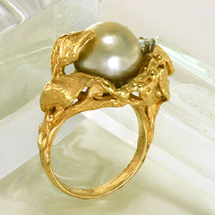 Ring 14K Gold, Akoya Cultivated Pearl - $3,200